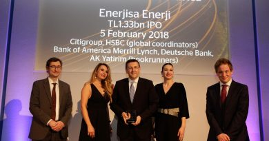 Enerjisa Enerji, 2018'in Şubat ayında gerçekleştirdiği Türkiye'nin en büyük özel sektör halka arzı ile uluslararası ödüle layık görüldü